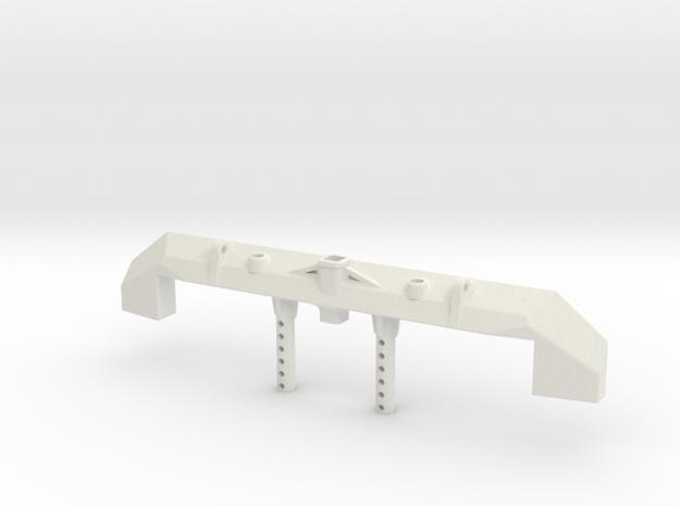 Nukizer Scx10 Bumper in White Natural Versatile Plastic