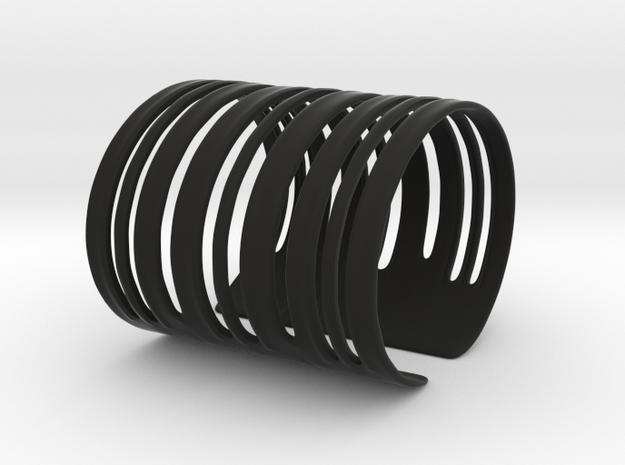 Bands Bracelet (Size L) in Black Natural Versatile Plastic