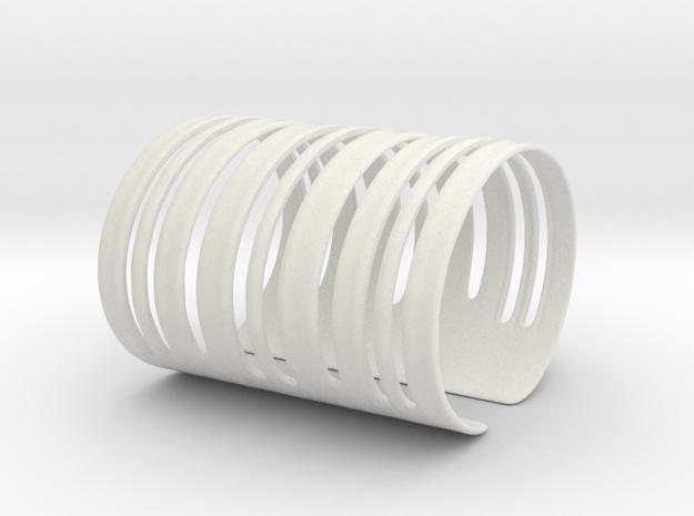 Bands Bracelet (Size S) in White Natural Versatile Plastic