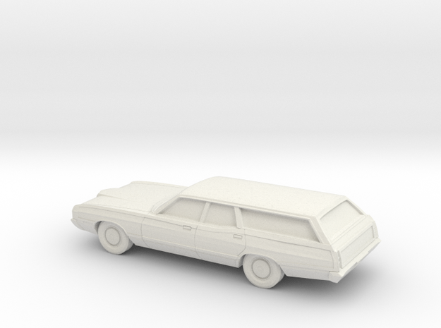 1/24 1971 Ford LTD Country Squier in White Natural Versatile Plastic