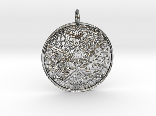 Alicia Antoinette Pendant in Fine Detail Polished Silver