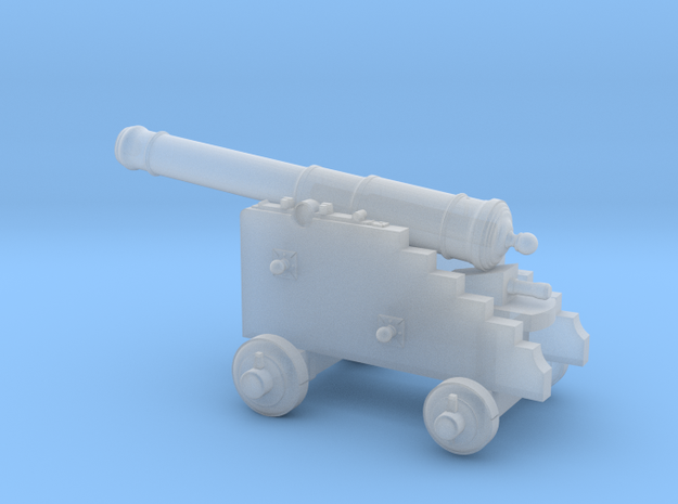 18th Century 6# Cannon-Naval Carriage 1/72 in Smooth Fine Detail Plastic