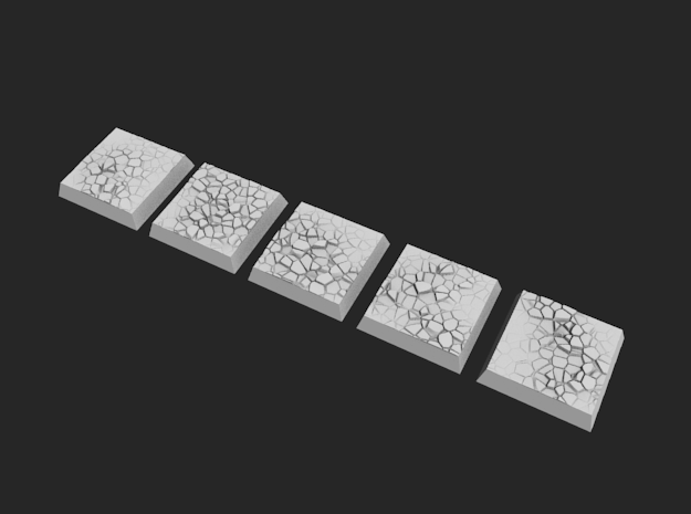 20mm Square Bases - Baked Earth in Frosted Ultra Detail