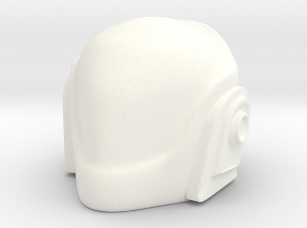 Daft Punk Helmet 2 in White Processed Versatile Plastic