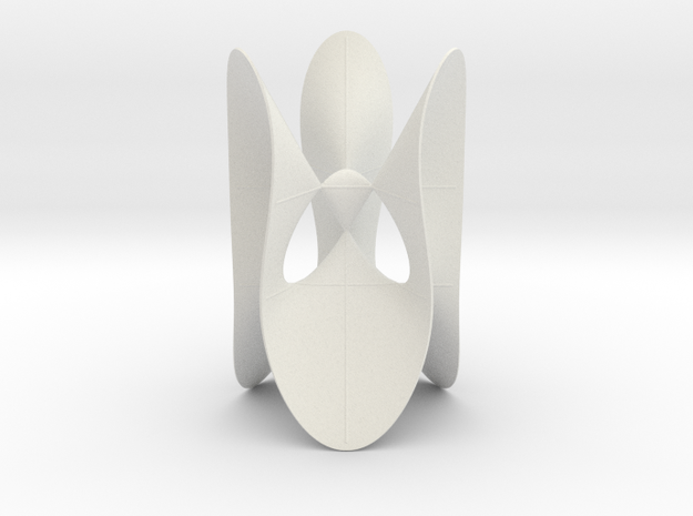Cayley's Cubic Surface with 4 Singularities in White Natural Versatile Plastic