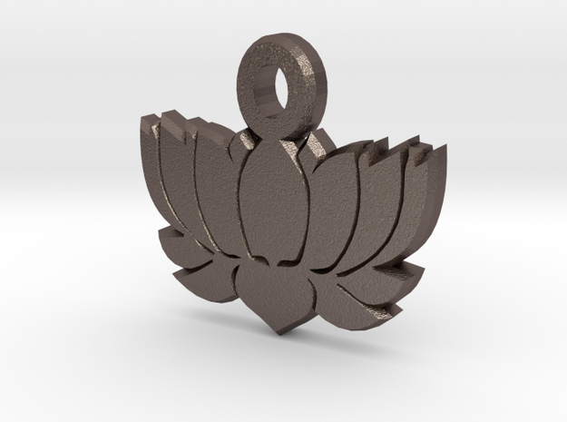 Yoga LOTUS FLOWER Pendant 2 in Stainless Steel