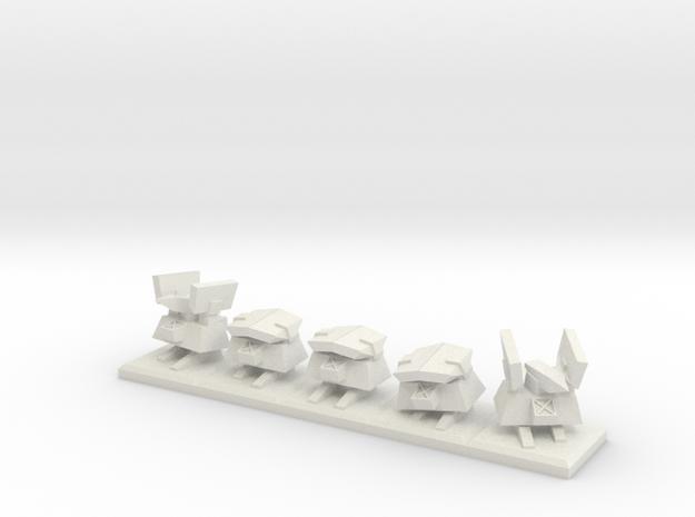 TA Construction Kbot Squad - 1cm tall in White Natural Versatile Plastic