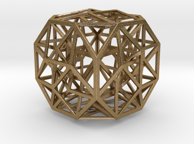 "The Cosmic Cube 2.7"" in Polished Gold Steel"