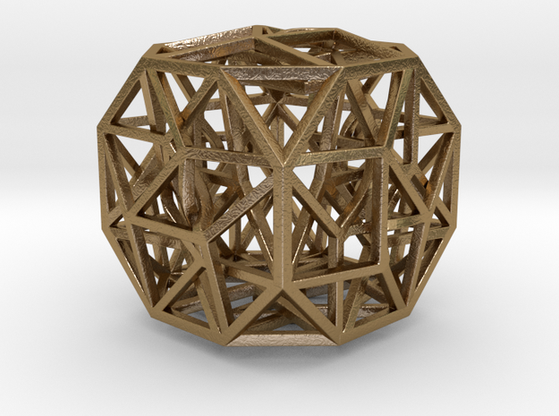 "The Cosmic Cube 1.6"" in Polished Gold Steel"