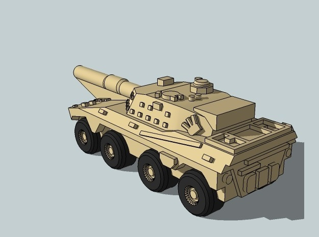 3mm SADF Rooikat MBT (12 pcs) 3d printed