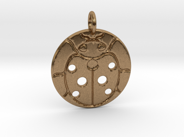 Beetle Pendant in Natural Brass