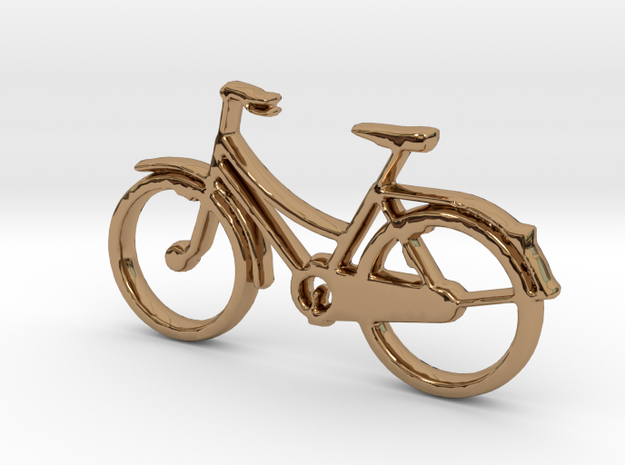 Bicycle No.2  Pendant and Keychain in Polished Brass