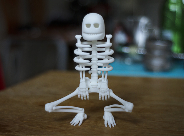 Cursed Skeleton in White Processed Versatile Plastic