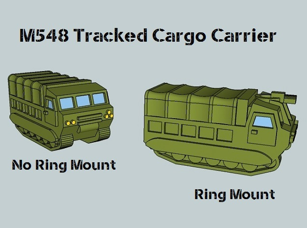 3mm M548 - Covered Wagon, With Ring-Mount (4 pcs) 3d printed