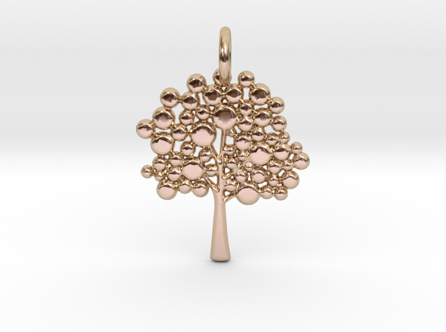 Tree Pendant in 14k Rose Gold Plated Brass
