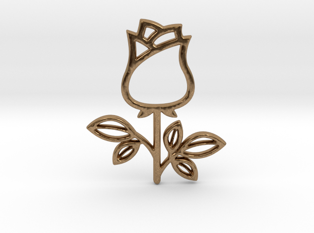 Rose No.1 Pendant in Natural Brass