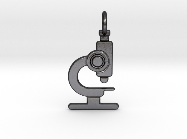 Microscope No.2 Pendant in Polished and Bronzed Black Steel