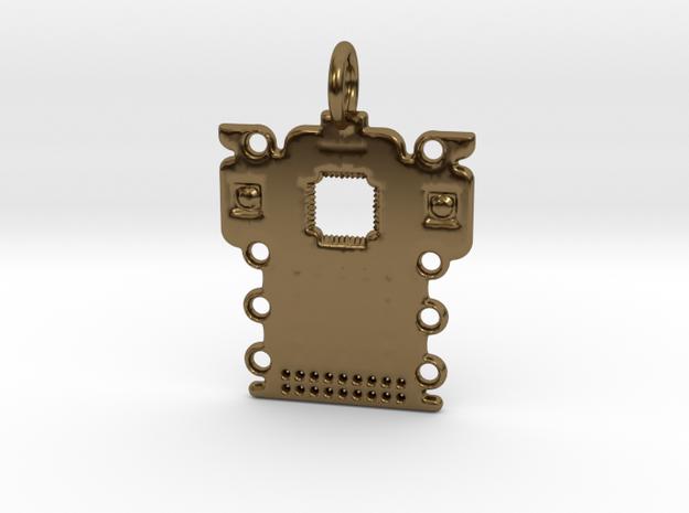 Electronics Pendant in Polished Bronze