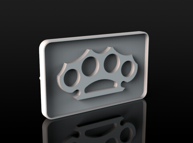 Buckle Brass Knuckles in White Strong & Flexible