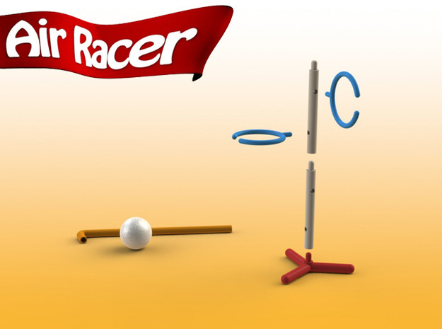 Air Racer - Straight Support 3d printed