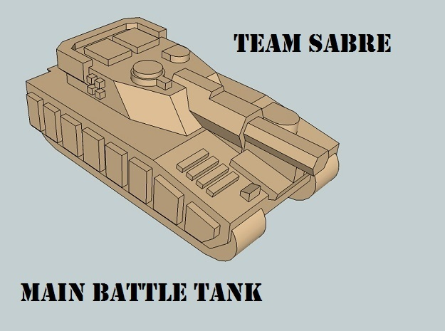 """""""Team Sabre"""" 3mm Tracked Armor Sample Pack in Smooth Fine Detail Plastic"""