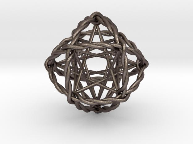 "Ultra Genesa Crystal 1.5"" in Polished Bronzed Silver Steel"