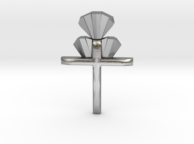 Cross Pendent in Raw Silver