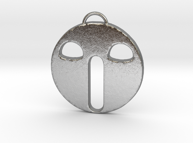 Scared Face in Natural Silver