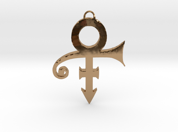 Prince Love Symbol Pendant in Polished Brass