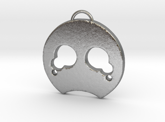 Disappointed Face in Natural Silver