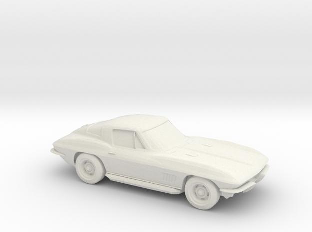 1/96 1963 Corvette Stingray in White Strong & Flexible