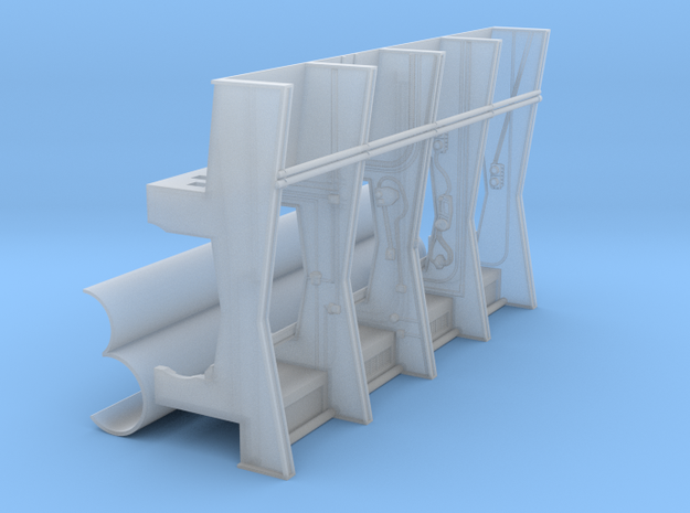 YT1300 DEAGO HALL PILLARS BIG SEPARATE TUBES in Smooth Fine Detail Plastic