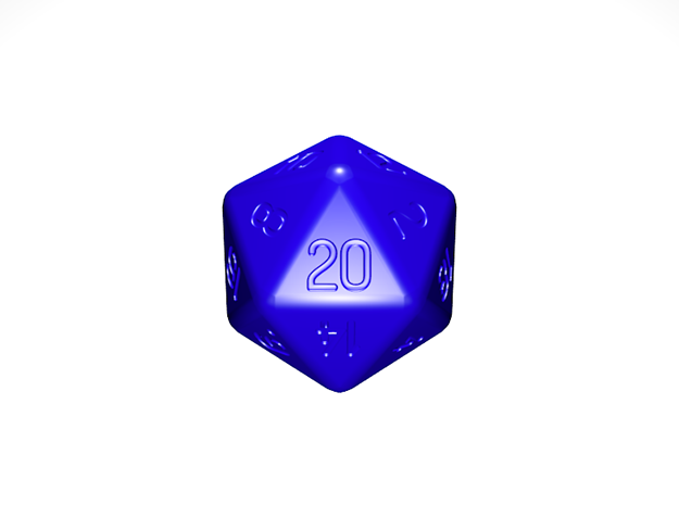 Jumbo 20 Sided Die in Black Acrylic