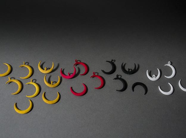 Moon Earrings 3d printed