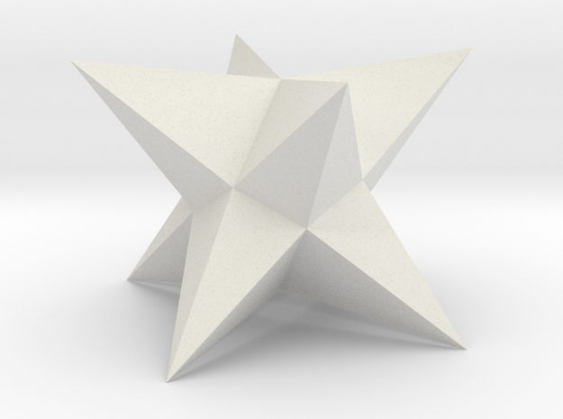 Stellated Square Trapezohedron in White Natural Versatile Plastic