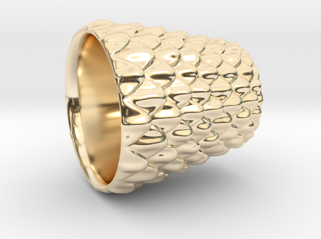 Dragon Scale Shot Glass in 14K Gold