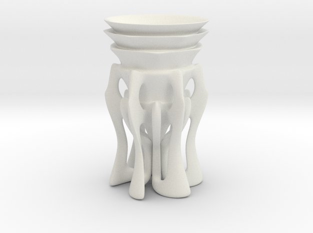 Shot Glass in White Natural Versatile Plastic