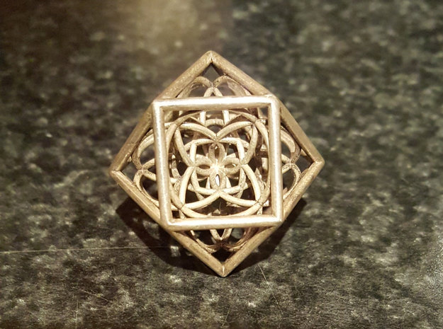 Flower Cube in White Strong & Flexible