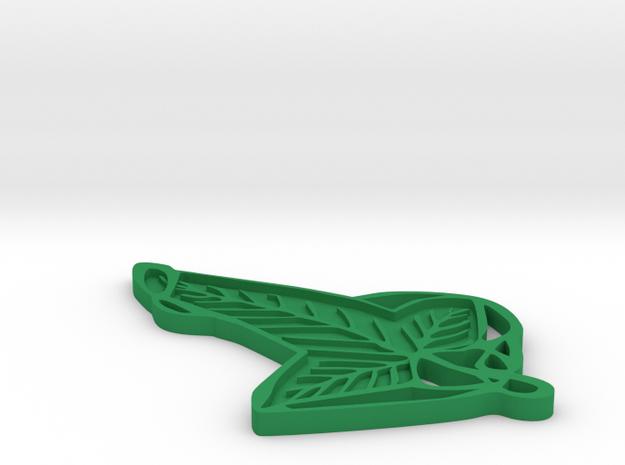 Lorien Leaf in Green Processed Versatile Plastic