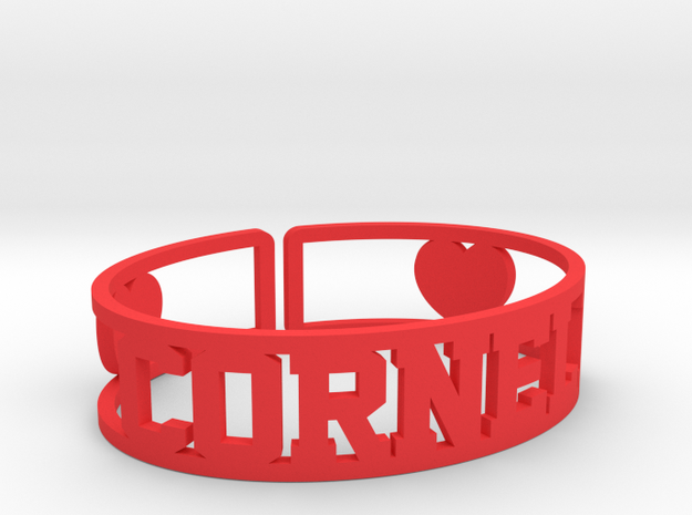 Cornell Cuff in Red Processed Versatile Plastic