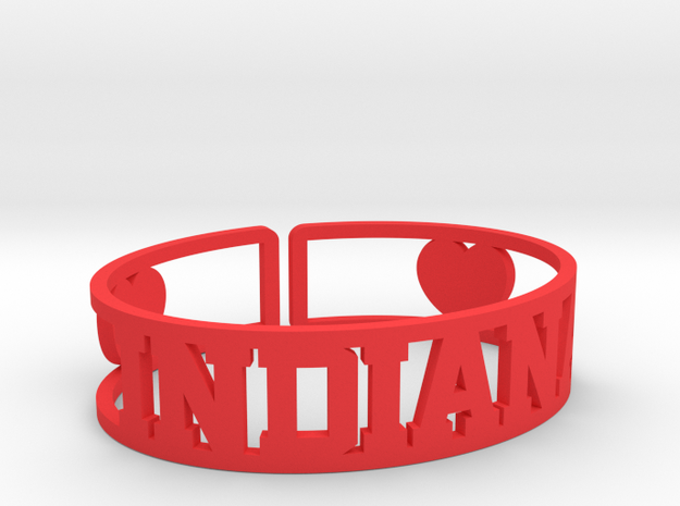 Indiana Cuff in Red Processed Versatile Plastic