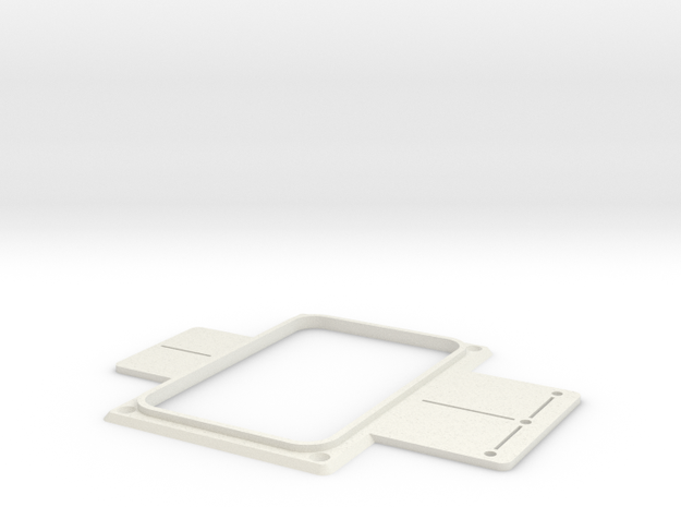 Headless tailpiece cup template in White Natural Versatile Plastic