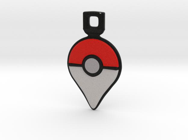 Pokemon GO - Logo Pendant/Necklace/Keychain in Full Color Sandstone