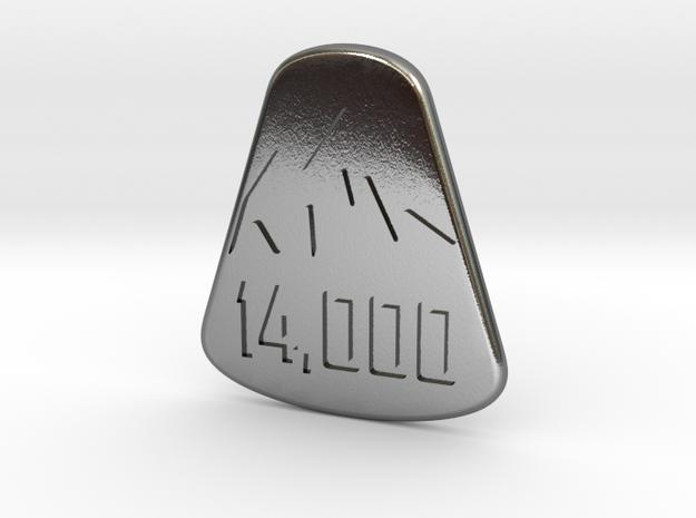 14er Pendant in Polished Silver