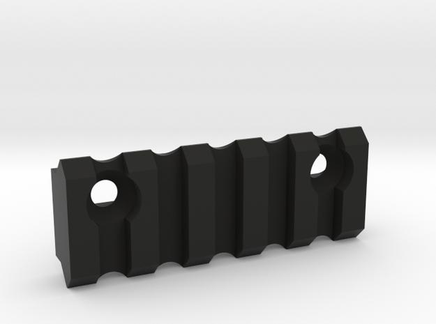 5 slot Keymod side Picatinny rail  in Black Strong & Flexible