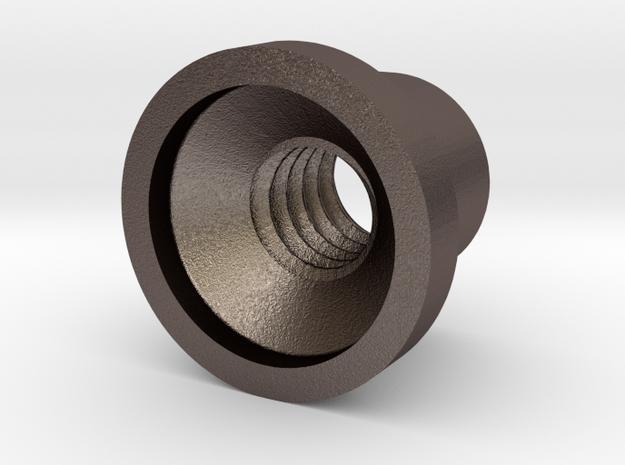 Keymod nut in Polished Bronzed Silver Steel
