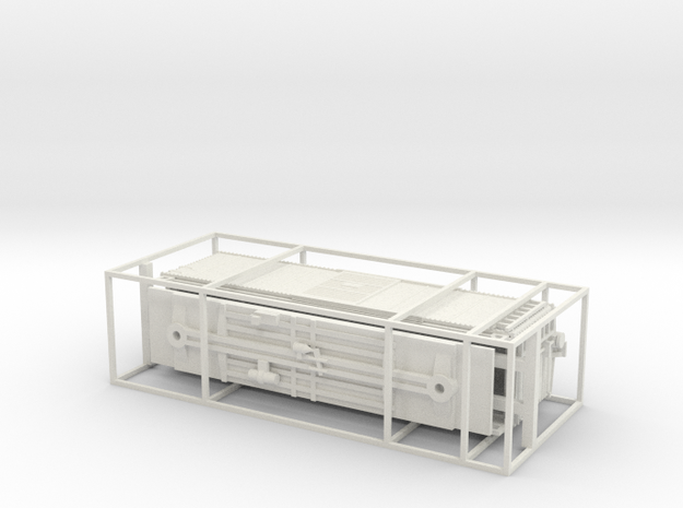 N Scale PRR X29B Boxcar Coarse Details w/ cage in White Natural Versatile Plastic
