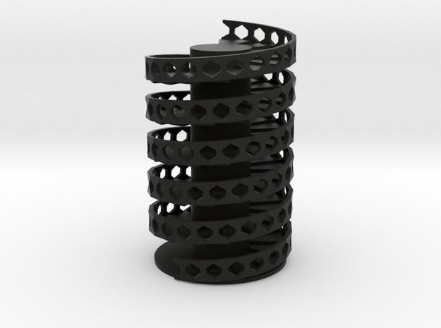 Spiral Stairs DNA in Black Natural Versatile Plastic