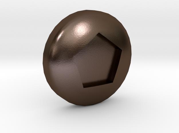 Pentagonal Ball - Supernova Soccer in Polished Bronze Steel