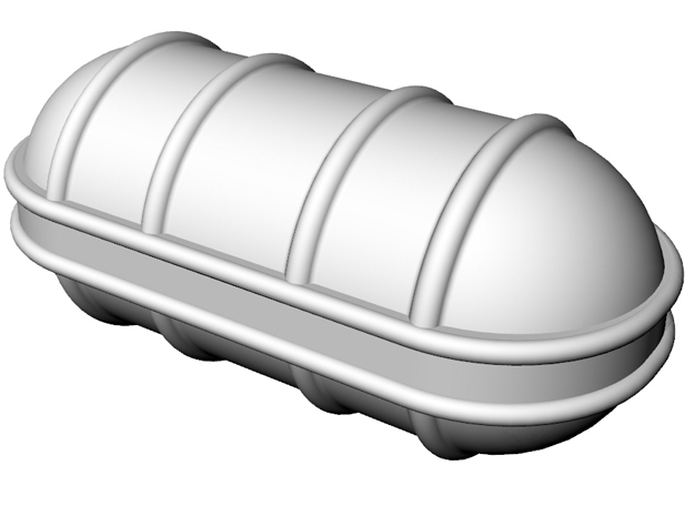 Life raft container A 5x 1/75 in White Strong & Flexible